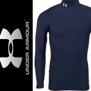 Under Armour Navy Mock Neck Compression Tee